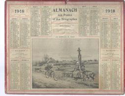 ALMANACH DES POSTES  1918 ( CALENDRIER ) ( LES NOUVELLES DU FRONT - Déssin: ? ) FACTEUR - Calendriers