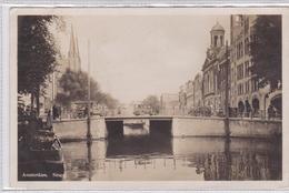 Amsterdam Singel Oude Auto's Levendig Brug Koningsplein Krijtkerk   1922 - Amsterdam