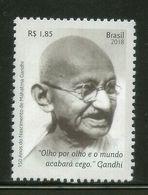 Brazil 2018 Mahatma Gandhi Of India 1v MNH # 13097A - Mahatma Gandhi