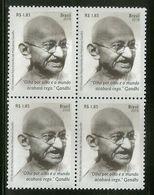 Brazil 2018 Mahatma Gandhi Of India BLK/4 MNH # 13097B - Mahatma Gandhi