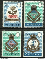 Ascension - 1971 Naval Crests (series 3)  MNH **     SG 149-52   Sc 152-5 - Ascension (Ile De L')