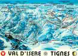 73 - Val D'Isère - Tignes - Carte Du Domaine Skiable - Voir Scans Recto-Verso - Val D'Isere