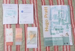 Lot Jean Michel Folon Hugo Pratt Flyer Marque Page Programme Très Bon Etat Rare - Non Classés