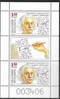 BULGARIA, 2019, MNH, ALBERT EINSTEIN, SCIENCE , SHEETLET OF 2 +TAB - Albert Einstein