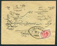 1912 Persia Ahmad Shah 6ch Cover. Ispahan - Iran