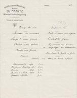 LA VANCELLE - WANZEL (67) - HÔTEL-RETAURANT DANIELSRAIN - CH. FRANTZ - MENUS 1914 - Menus
