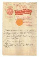 Lettre à Entête - Epicerie Louis - Blanc , Mercerie, Chaussures Louis VIDAUD à Périgueux  Liqueur Du Père (fr79 - France