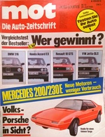 CA145 Autozeitschrift Mot Auto-journal, Nr. 13/1980, Porsche Targa, Neuwertig - Automóviles & Transporte
