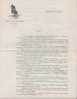 COLMAR (68) - SOCIÉTÉ DES COURSES - HIPPISME - CHEVAUX - DEMANDE DE MEMBRES - Menus