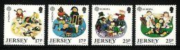 JERSEY 1989 EUROPA SPORT TOYS CRICKET TENNIS GAMES SET MNH - Jersey