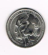 //  U.S.A.  1/4 DOLLAR  MOUNT RUSHMORE -  SOUTH DAKOTA  2013 P - Émissions Fédérales
