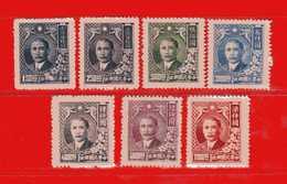 Chine** 1947-48 -Sun Yat-Sen.Yvert.567-568-569-572-573-575-576. MNH ** Sans Gomme.  Vedi Descrizione - 1912-1949 Repubblica