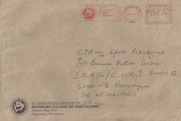 "Botswana 2013 Gaborone Meter Pitney Bowes ""DM300"" BP06009 Slogan College Of Agriculture EMA Cover - Botswana (1966-...)"
