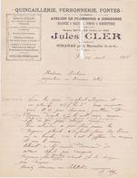 MIRAMAS LEOPOLD CLER ANNÉE 1908. Quincaillerie, Ferronnerie, Zinguerie, Plomberie - France