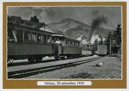 ITALIA   ORTISEI   TRAIN- ZUG-  TREIN- TRENI  -GARE-BAHNHOF- STATION -STAZIONI    (2 SCAN)      (NUOVA) - Trains
