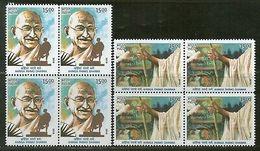 India 2019 Mahatma Gandhi Ahimsa Permo Dharma Nonviolence Religion 2v BLK/4 MNH - Mahatma Gandhi
