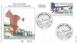 Mayotte 1997 Amandzi Inauguration Airport FDC Cover - Covers & Documents