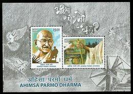 India 2019 Mahatma Gandhi Ahimsa Permo Dharma Nonviolence Religion M/s MNH - Mahatma Gandhi