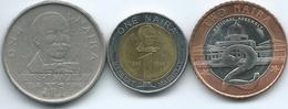 Nigeria - 1 Naira - 1991 (KM14) & 2006 - Herbert Macauley (KM18); 2 Naira - 2006 - KM19 - Nigeria