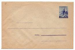 1940s 50s FNR YUGOSLAVIA, STAMP IMPRINTED COVER, DOMESTIC USE, LATIN TEXT,BLUE 3 DIN, MASOVNI KOVERAT, POSTAL STATIONERY - Postal Stationery