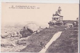 CPA -  84. Ploumana' Ch - Le Phare Et Le Rocher Des 2 Têtes - Ploumanac'h