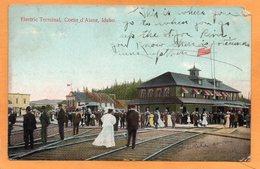 Coeur D Alene Idaho 1908 Postcard - Coeur D'Alene