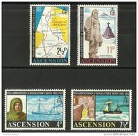 Ascension - 1972 Shackleton Anniversary MNH **     SG 159-62   Sc 160-3 - Ascension