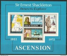 Ascension - 1972 Shackleton Anniversary S/sheet MNH **     SG MS163   Sc 163a - Ascension