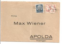 Olympiade 1936 8+4Pf Speerwerfer Mi 612 MiF Mi 514-Krefeld 16.7.36 - Briefe U. Dokumente