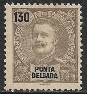 Ponta Delgada – 1898 D. Carlos 130 Réis - Ponta Delgada