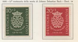 PIA - GER - 1950 : Bicentenario Della Morte Di Johann Sebastien Bach -   (Yv 7-8) - Musica