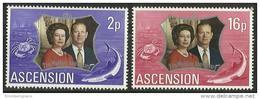 Ascension - 1972 Silver Wedding MNH **     SG 164-5   Sc 164-5 - Ascension