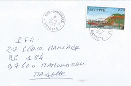Mayotte 1999 Bandrele Harbour Longoni Domestic Cover - Covers & Documents
