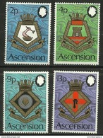 Ascension - 1973 Naval Crests (series 5) MNH **     SG 166-9   Sc 166-9 - Ascension (Ile De L')