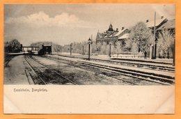 Hessleholm Railroad Station Sweden 1900 Postcard - Sweden