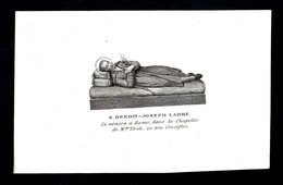 Incisione: S. BENEDETTO-GIUSEPPE LABRE - Roma - XIX Sec. - RI-INC001 - Religione & Esoterismo
