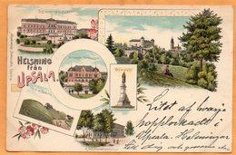 Helsning Fran Upsala Sweden 1898 Postcard - Sweden