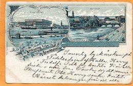 Halsning Fran Stockholm Sweden 1898 Postcard - Sweden