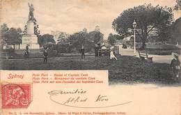 CPA Sydney - Hyde Park - Statue Of Captain Cook - Cachet Paquebot - Sydney