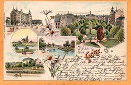 Helsning Fran Gefle Sweden 1898 Postcard - Sweden