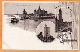 Helsning Fran Helsinborg Sweden 1898 Postcard - Sweden