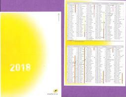 Calendrier °° 2018 - La Poste Jaune - 7x10 - Calendars