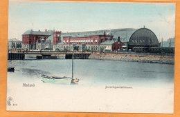 Malmo Railroad Station Sweden 1900 Postcard - Sweden