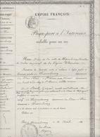 PASSEPORT À L'INTÉRIEUR DE 1860 - WISSEMBOURG - (BAS-RHIN) - PIÈCE UNIQUE - Historische Documenten
