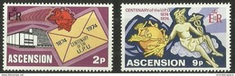 Ascension - 1974 UPU Anniversary Set Of 2 MNH **     SG 180-1   Sc 179-80 - Ascension