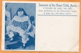 Circus Freak 1900 Postcard - Circo