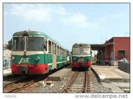144 Treno FCE - Ferrovia Circumetnea ADe IOMS, Fiat, TIBB Nesima Catania  Rairoad Trein Railweys Treni Steam  Sicilia - Estaciones Con Trenes