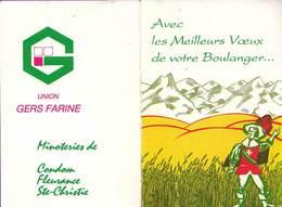Calendrier °° 1993 - Boulanger - Mousquetaire Gers - 7x11 - Calendari