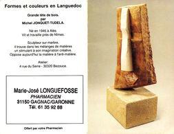 Calendrier °° 1993 - Pharma 31 - Longuefosse - Sculpture Tête En Bois - 6x10 - Calendari