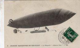 Grandes Manoevres Du Sud-Ouest  -  Le Dirigeable 'Adjudant Réau'  -  CPA - Zeppeline